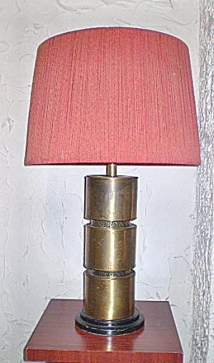Brass Lamp Greek key Design  Mid-Century Modern Large  (Image1)