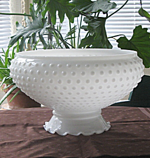 Ceiling Shade 1920 Opal Milkglass Hobnail 11 1/2 Inch Fitter (Image1)