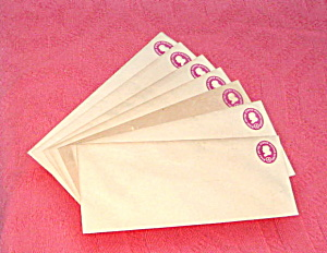Envelopes Vintage Printed Postage Washington Head