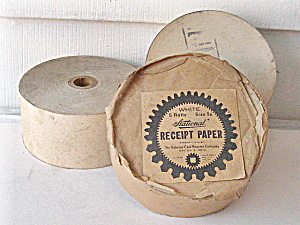 Cash Register Receipt Paper Rolls/file Guides 1950