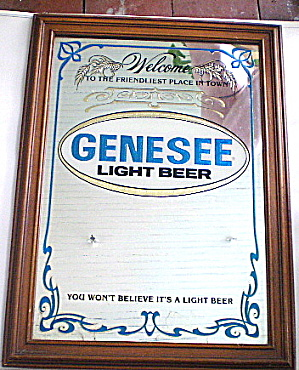 Vintage Bar Mirror Genesee