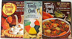 Family Circle Magazines Vintage 1961 Set Of 3