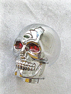 Chrome Skull 1980s Heavy Metal/Motorcycle Decoration (Image1)