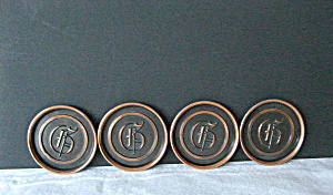 Copper Coasters with The Letter G (Image1)