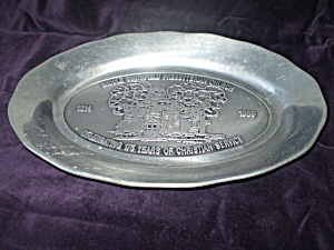 1989 Church Memorabilia Pewter Steak Plate (Image1)