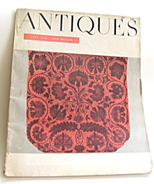 Antiques Vintage July 1958 Magazine