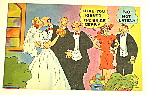 Comic Vintage Postcard-Kissing the Bride (Image1)