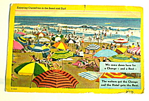 Comic Vintage Postcard-Sand & Surf Enjoyment (Image1)