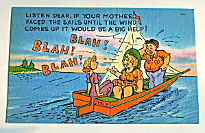 Comic Vintage Postcard- Mother- In -law