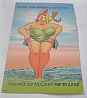 Comic Vintage Postcard - The Boys All Love Me