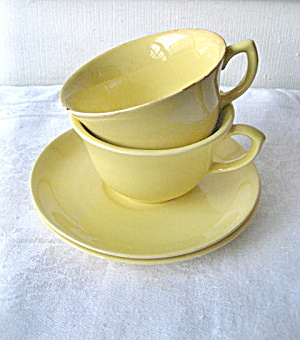 Vintage 1950s Padre Pottery 3 Cups and 6 Saucers (Image1)