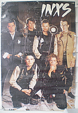 INX  Australian Rock Band Poster 1980s (Image1)