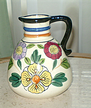Antique Deco Made in Japan Revelation Pottery Pitcher (Image1)