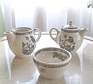 Railroad China PBNE 1 Boullion  Cup &  2  Indivdual Teapots (Image1)