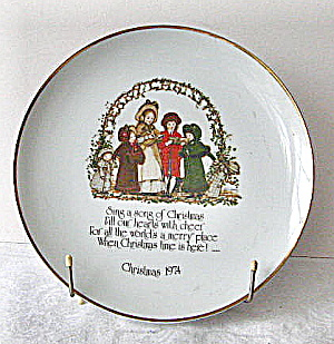 1974 Christmas Holly Hobbie Commemerative Plate