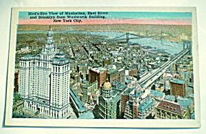 Brooklyn,Manhattan,E.River,NYC Vintage Postcard (Image1)