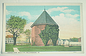 Vintage Postcard-1714 Powder Horn-Williamsburg,VA (Image1)