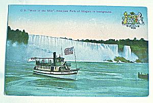 Niagra Falls-Maid of The Mist Boat Vintage Postcard (Image1)