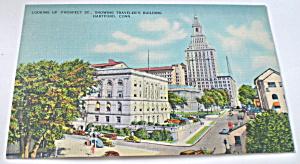 Traveler's Building, Hartford, Conn Vintage Postcard 1920s (Image1)