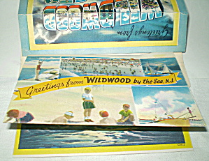 Wildwood NJ 10 Postcard Series Mailer Vintage  (Image1)