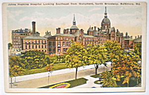 Vintage 1920 Postcard-Johns Hopkins Looking Southeast (Image1)