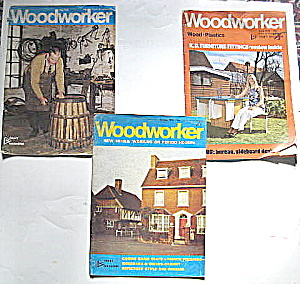 Woodworker Magazines,1971, 1975, 1976