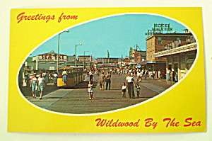 Vintage Photo Postcard Wildwood By The Sea (Image1)