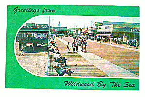 Vintage Photo Postcard-Wildwood-By-The-Sea Boardwalk  (Image1)
