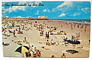 Vintage Photocard Beach Showing Hunt's Pier,Wildwood,NJ (Image1)