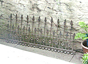 1910 Wrought Iron Fencing - Length - 9 Feet