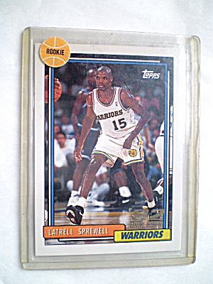 Latrell Sprewell Nba Rookie 1993 Trading Card