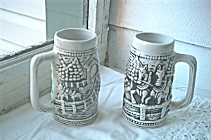Vintage Beer Stein Set from Brazil (Image1)