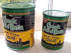 Twin Towers Skyline on Chock Full o' Nuts Coffee Tin 2000 (Image1)
