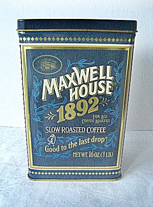 Maxwell House Coffee Commerative Tin, 1892-1992 (Image1)