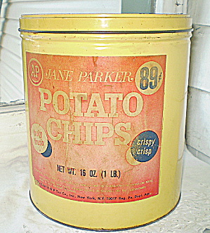 A & P Vintage Potato Chips Tin 1955 (Image1)