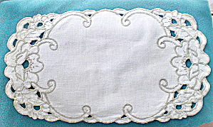 Vintage Irish Linen Cutwork Doily
