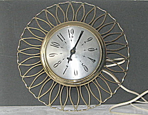 Vintage I950 Sessions Sunflower Wall Clock