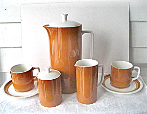 Vintage 1950 Harmony House ChinaTierra 9 pc Coffee Set (Image1)