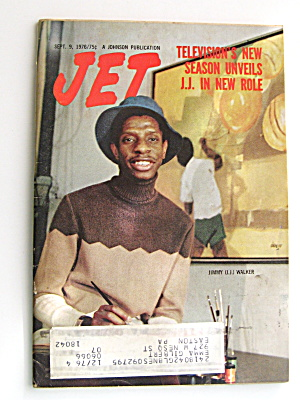 Jimmy J.j. Walker 1976 Jet Magazine Article