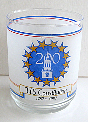 US Constitution 200 yr Commemorative Drinking Glass (Image1)
