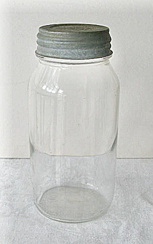Anchor Atlas Clear Glass Fruit Jar Vintage 1930 (Image1)