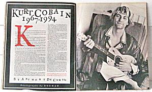Kurt Cobain Obituary 6/2/1994 Rolling Stone Magazine (Image1)