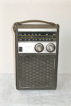 1959 SOUNDESIGN AM/FM Battery/Electric Portable Radio (Image1)