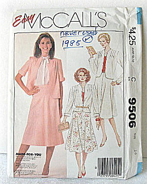 Vintage Ladies1985 Jacket / Skirt Spring/summer Pattern