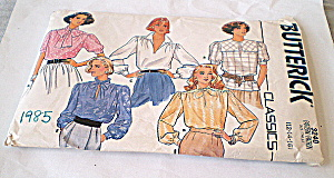 Vintage 1985 Ladies Blouse Pattern (Image1)