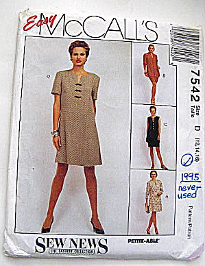 Vintage McCall's Verstile Dress Pattern (Image1)
