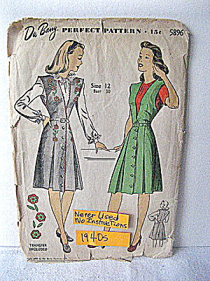 WWII Blouse and Jumper Pattern w/ EmbroideryTransfer (Image1)