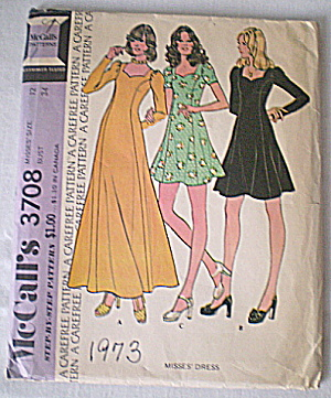 Vintage 1973 Joan Crawford Neckline Dress Pattern