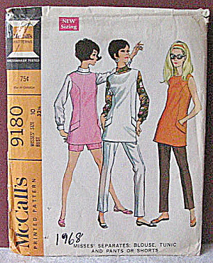 Vintage 1968 Womens Separates Tunic,Slacks,Shorts (Image1)