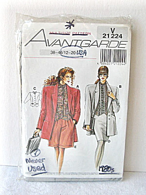 Vintage 1985 Womens Suit Pattern (4 Languages)